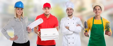 Edukacja zawodu zawodów biznesu kariery młodzi ludzie obrazy royalty free
