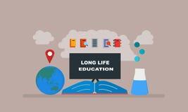 Edukacji blackboard, ziemia, książki ilustracja royalty ilustracja