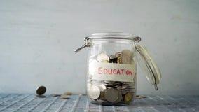 Edukacji pojęcia pieniądze słój zdjęcie wideo