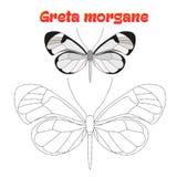 Edukacyjna gra łączy kropki rysować motyla Fotografia Stock
