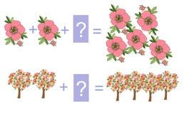Edukacyjna gra dla dzieci Kreskówki ilustracja matematycznie dodatek royalty ilustracja