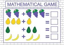 Edukacyjna gra dla dzieciaków Uczenie liczenie, dodatek również zwrócić corel ilustracji wektora ilustracji