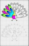 Edukacyjna strona z ćwiczeniami dla dzieci na kwadratowym papierze Obraz Royalty Free