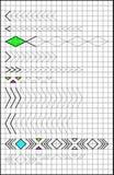Edukacyjna strona z ćwiczeniami dla dzieci na kwadratowym papierze Zdjęcia Stock