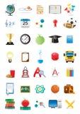 edukacyjne ikony Obrazy Royalty Free