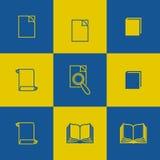 Edukacyjne ikony i symbole Fotografia Royalty Free
