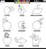 Edukacyjni podstawowi kształty ustawiająca kolor książka Obraz Royalty Free