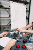 Edukacyjny eksperyment, elektronika rozwój zdjęcie stock