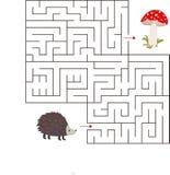 Edukacyjny matematycznie gra Dla dzieciaków labirynt gra Wektorowa szablon strona z grze obrazy stock