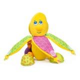 Edukacyjnych zabawek miękki banan odizolowywający Zdjęcie Royalty Free