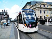 Edunburgh trams Stock Photo