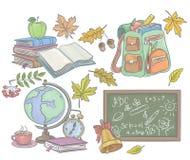 Eduque acessórios ilustração royalty free