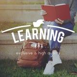 Eduque aprendem a educação do conhecimento que aprende o conceito foto de stock
