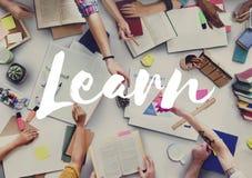 Eduque aprenden la educación del conocimiento que aprende concepto imagenes de archivo