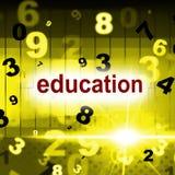Eduque a educação indica a faculdade e a educação da escola ilustração stock