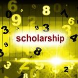 Eduque a educação representa aprendem a academia e educams ilustração royalty free