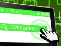 Eduque a educação representa a escola e a universidade do tutoria ilustração do vetor
