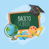 Eduque ferramentas à educação e aprenda coisas ilustração royalty free