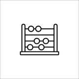Eduque a linha ícone, educação e escola do ábaco ilustração stock