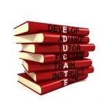 Eduque livros ilustração stock
