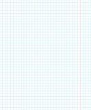 Eduque a página do caderno um no quadrado para a matemática ilustração do vetor
