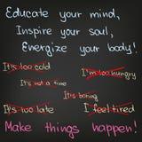 Eduque sua mente, inspire sua alma Fotos de Stock Royalty Free