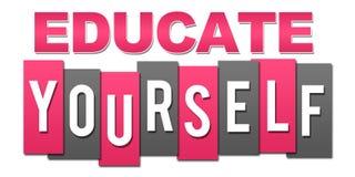 Eduque você mesmo cinza cor-de-rosa profissional ilustração stock