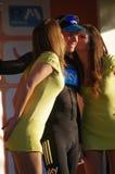 Edvald Boasson Hagen with the podium girls Royalty Free Stock Images