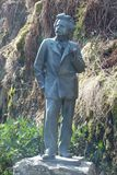 Edvard Grieg`s statue. Troldhaugen is the former home of Norwegian composer Edvard Grieg and his wife Nina Grieg. Troldhaugen is located in Bergen, Norway and Stock Photos