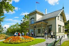 Edvard Grieg Troldhaugen hus i Bergen arkivfoton