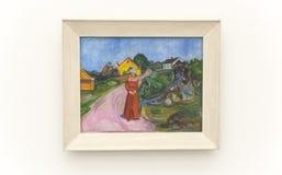 Edvard Munch σε Pinakothek der Moderne στο Μόναχο στοκ εικόνες με δικαίωμα ελεύθερης χρήσης