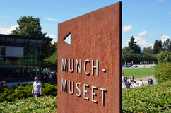 Edvard Munch Museum i Oslo Royaltyfri Fotografi