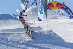 Edvards Lansmanis,立陶宛滑雪者 免版税库存图片