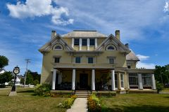Edward Bain House. This is a Summer picture of the Edward Bain House located in Kenosha, Wisconsin. The house was built in 1860, is an example of Italianate royalty free stock image