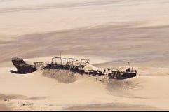 Edward Bohlen shipwreck on Namib desert, Skeleton Coast, Namibia. Edward Bohlen shipwreck on Namib desert, Skeleton Coast, Africa, Namibia royalty free stock photos