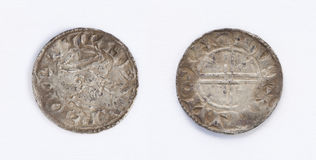 Edward The Confessor Rare Silver Coin Stock Image