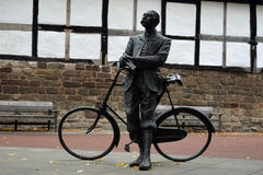 Edward Elgar Statue, Hereford Cathedral, Herefordshire Stock Image