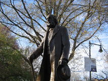 Edward Everett Hale Sculpture, Boston Public Garden, Boston, Massachusetts, USA. Bronze and granite sculpture of writer and Unitarian minister Edward Everett Stock Images