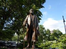 Edward Everett Hale Sculpture, Boston Public Garden, Boston, Massachusetts, USA. Bronze and granite sculpture of writer and Unitarian minister Edward Everett Royalty Free Stock Photo