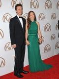 Edward Norton et Shauna Robertson images stock