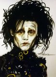 Edward Scissorhands royalty free stock images