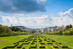 Edward vii park in Lisbon, Portugal Royalty Free Stock Photography