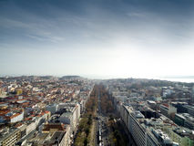 Edward vii Park and Lisbon Skyline, Portugal Royalty Free Stock Photography