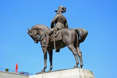 Edward VII statue, Liverpool. Stock Photography