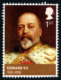 Edward VII UK Postage Stamp. GREAT BRITAIN - CIRCA 2012: A used postage stamp from the UK, depicting a portrait of King Edward VII, circa 2012 Stock Photography