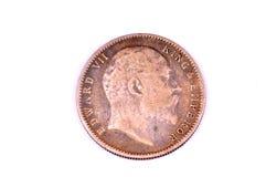 Edward zeven muntstuk stock afbeelding