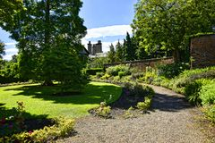 Garden at Beautiful Country House near Leeds West Yorkshire that is not National Trust Stock Image