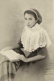 Edwardian dziewczyny portret Obraz Stock