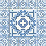 Edwardian Floor Tiles patern royalty free illustration