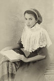 Edwardian girl portrait Stock Image
